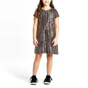 NWT Girls' Short Sleeve Sequin Dress XL(14-16)